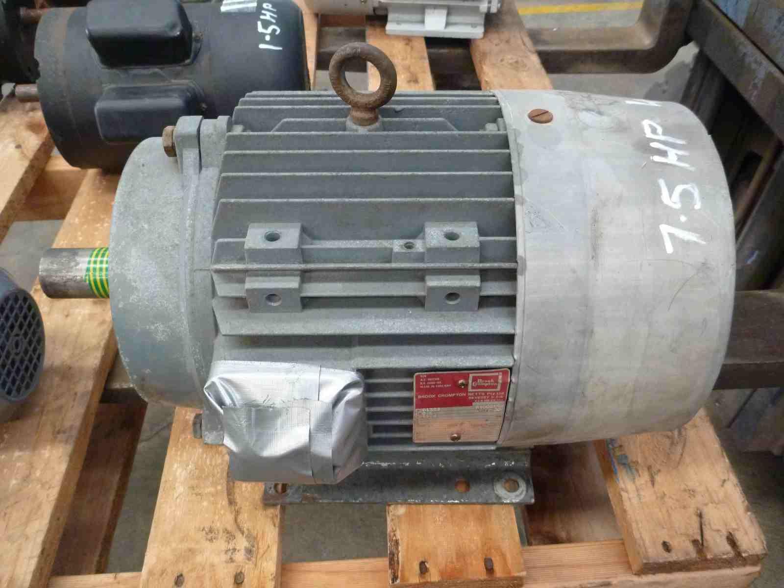 Brook Crompton Betts Motors Motor Wiring Diagrams 7 5hp 3 Phase Electric Bills Machinery