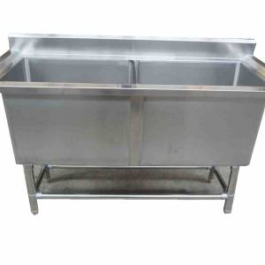 Photo of CATERSALES DOUBLE POT SINK 1400MM ON STAND