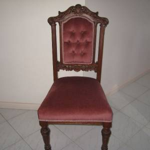 Photo of 6 OF ANTIQUE DINING ROOM CHAIRS