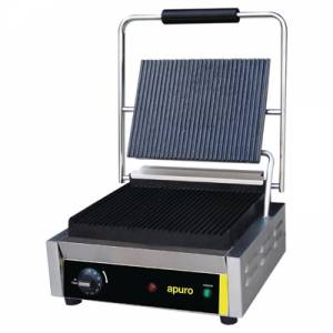 Photo of APURO LARGE RIBBED CONTACT GRILL DM903A