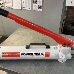 Photo of UNUSED POWER TEAM 2 SPEED HAND PUMP