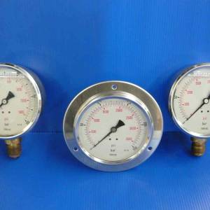 Photo of OIL PRESSURE GAUGES DUAL RANGE 3500 PSI