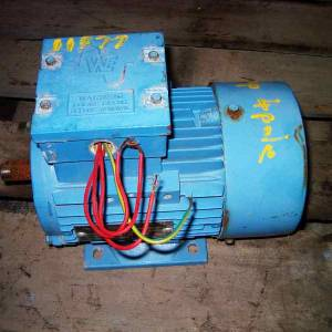 Photo of WESTERN ELECTRIC 1HP 3 PHASE ELECTRIC MOTOR