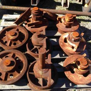 Photo of CAST IRON RAIL WHEELS