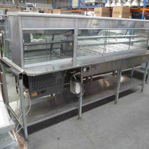 Photo of CURVED GLASS HOT & COLD FOOD DISPLAY UNIT 2450MM