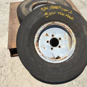 Photo of GOODYEAR 8.25-16 LIGHT TRUCK TYRE ON RIM